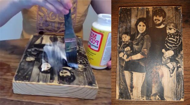 How to transfer a photo onto a block of wood for How do i transfer a picture onto wood