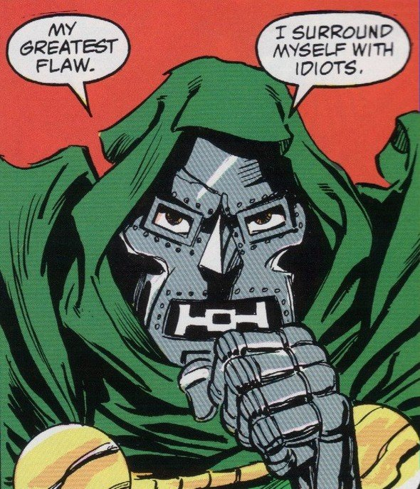 Dr doom 39 s greatest flaw for Mf doom tattoo