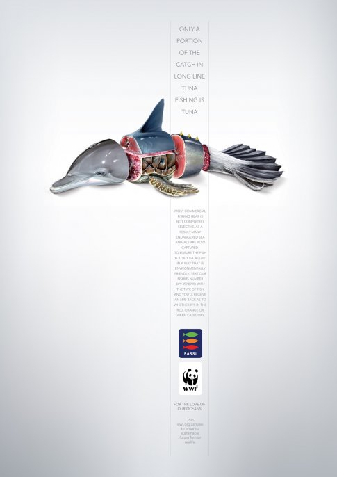 Advertising with a message bluefin tuna overfishing for Advertising agency paris