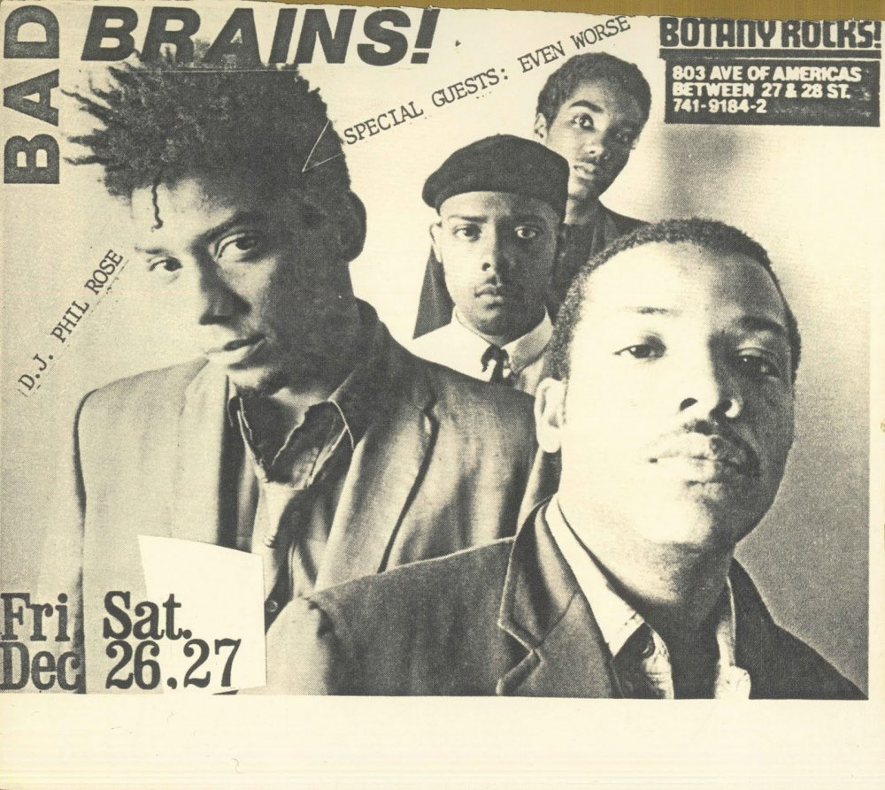 Old school: Bad Brains Flyers