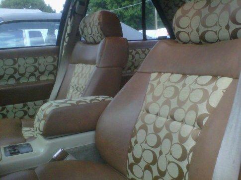 coach fabric 13 car interiors. Black Bedroom Furniture Sets. Home Design Ideas