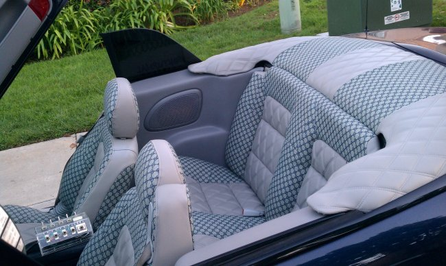 gucci vinyl 14 navy blue on grey for car interiors from. Black Bedroom Furniture Sets. Home Design Ideas