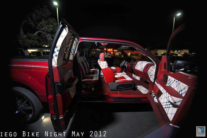 Burberry vinyl f car interiors - Burberry fabric for car interior ...