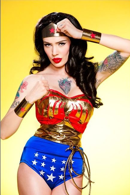 WONDER WOMAN. Micheline Pitt and photographer Rick Miller did a great job ...