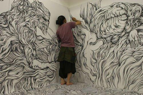 Yosuka Goda Wall Drawing