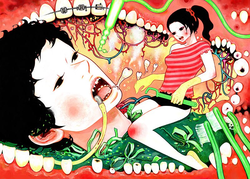 Minchi Is A Japanese Artist Whos Work Has Very Anime Surreal Method Born In Kyoto Japan Lives And Works Hyogo