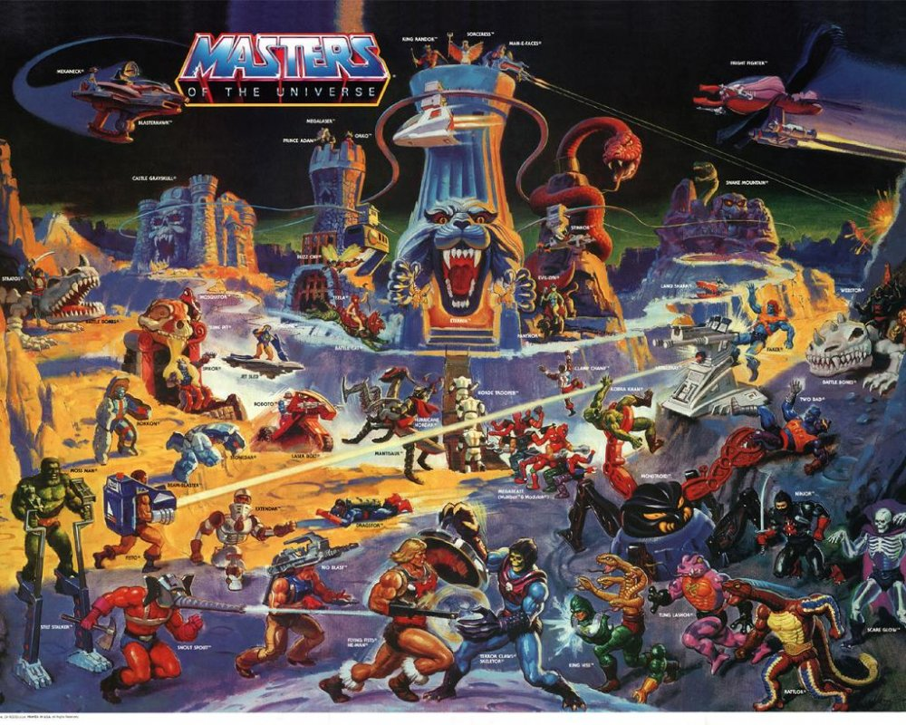 Masters Of The Universe Toys : Masters of the universe toy illustration