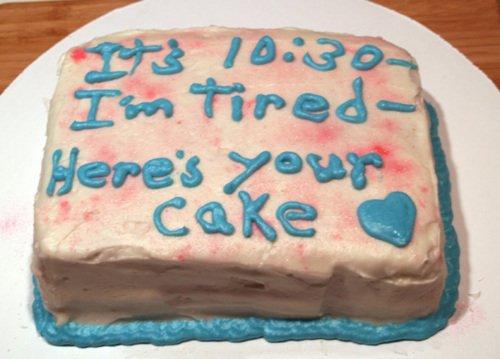 Last Minute Birthday Cake