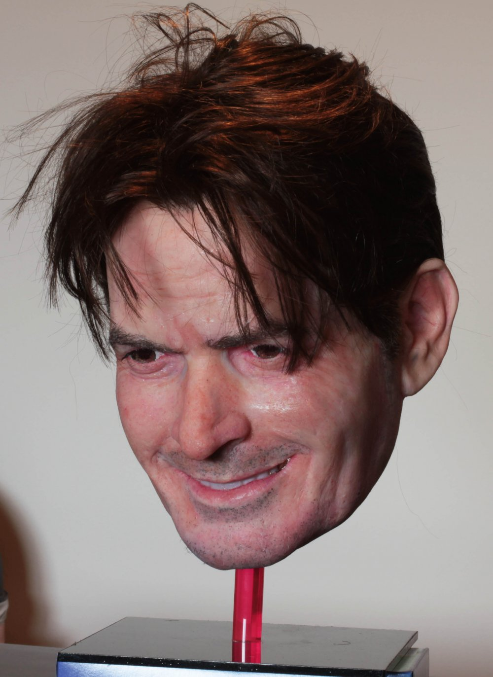 Creepy charlie sheen mask wins mask fest thecheapjerseys Choice Image